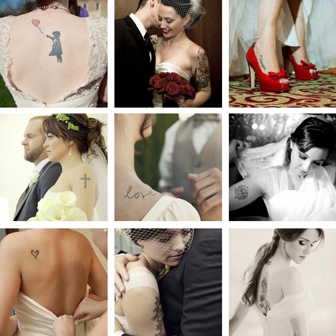 tatuagens discretas no casamento