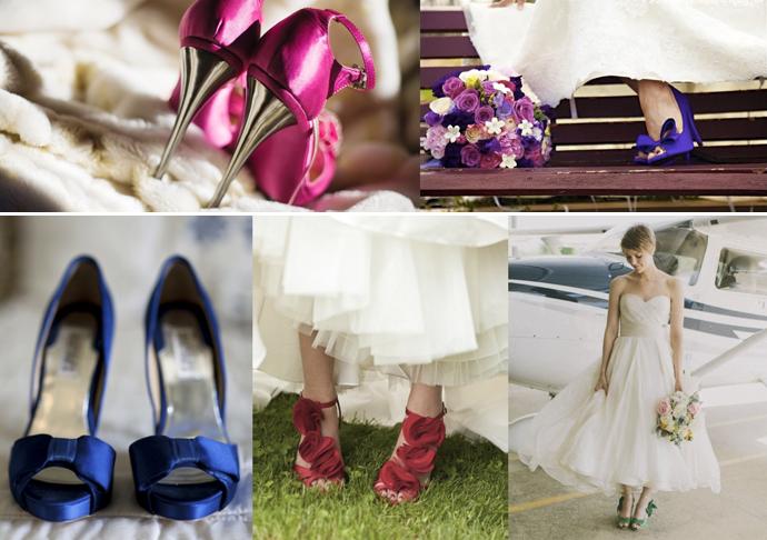 Blog da Manu sapatos coloridos para noivas